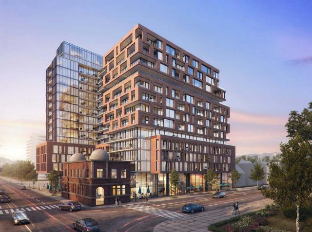 Updated design, XO Condos at 1221 King West, image via submission to the City of Toronto