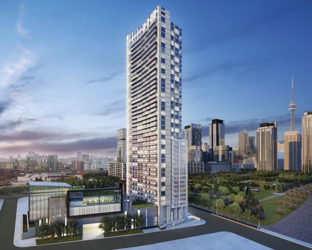 Quartz condominiums at CityPlace, Toronto, image courtesy of Concord Adex