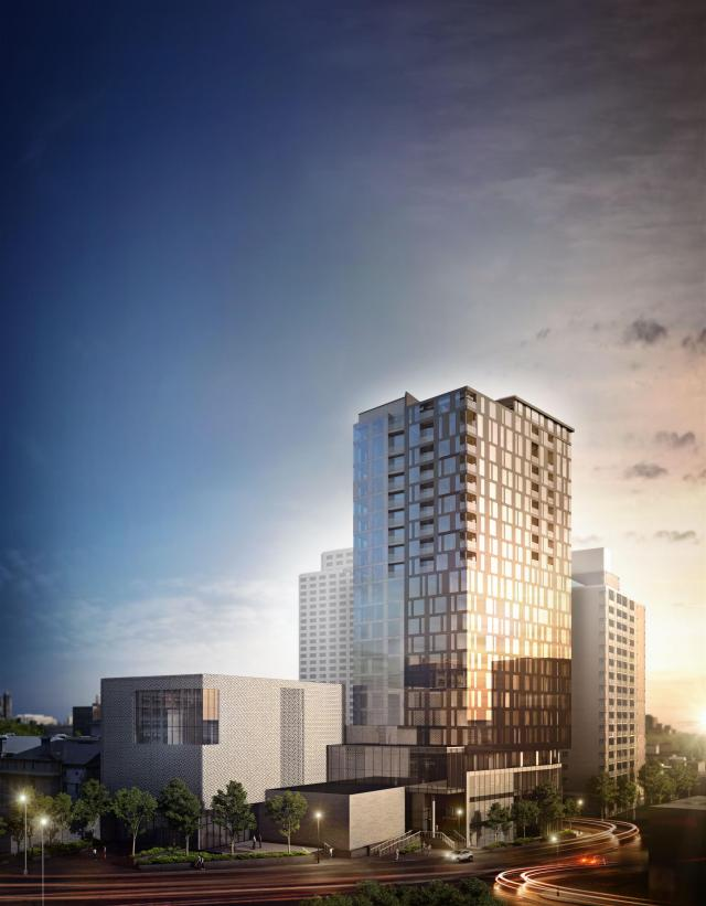 ArtHaus Residences at Ottawa Arts Court, rendering courtesy of DevMcGill