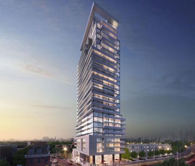 Night time rendering, designed by TACT Architecture for Metropia and Diamond Corp, Toronto