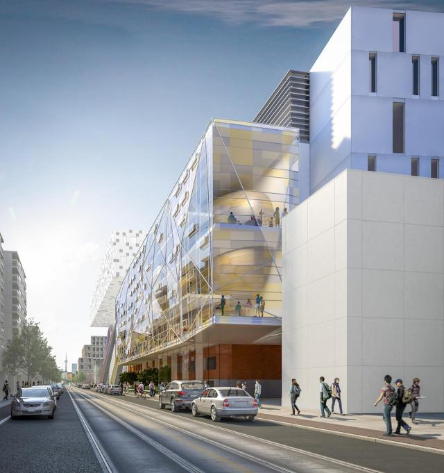 Concept design for OCAD U's main building at 100 McCaul Street, Toronto, by Diamond Schmitt Architects