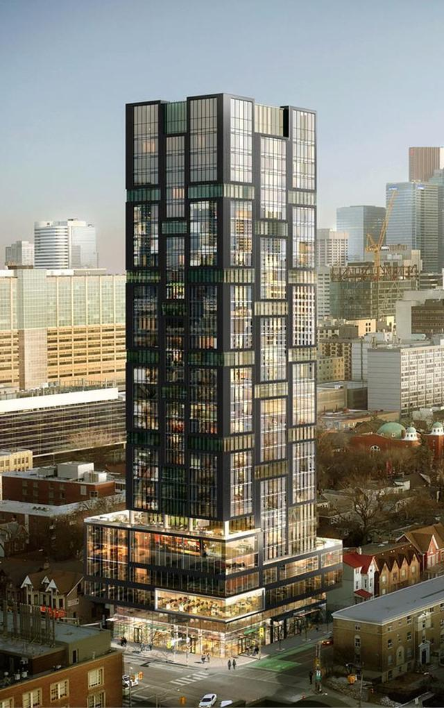 Looking southeast to Theory Condos, designed by Page + Steele / IBI Group Architects for Parallax Investment Corporation