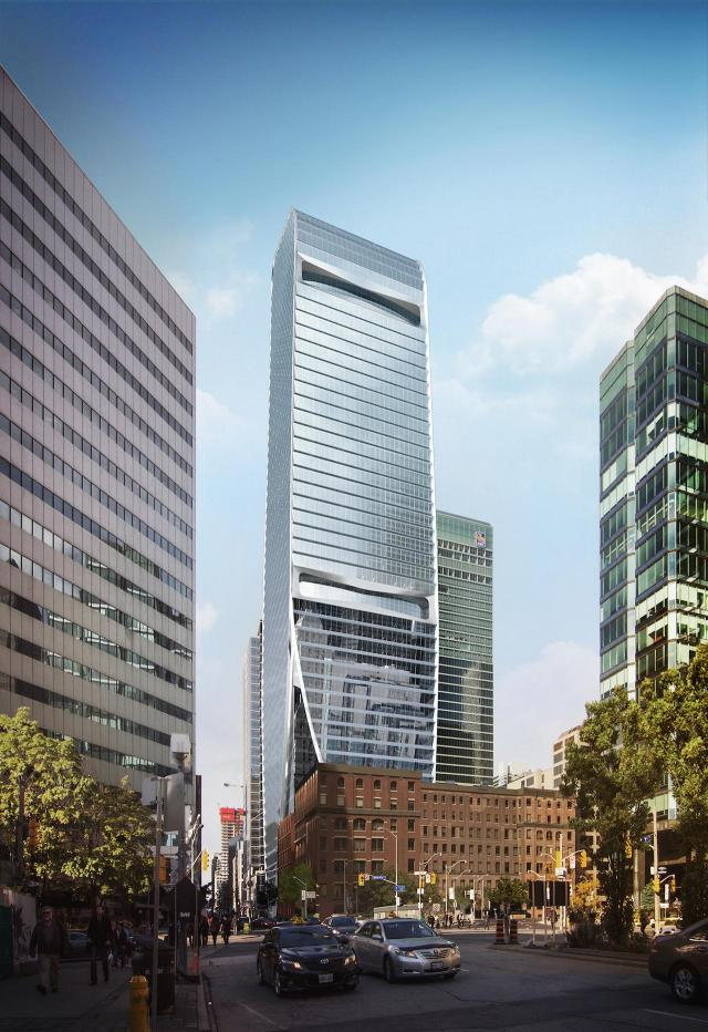 160 Front West from York Street, image by AS+GG Architecture and B+H Architects for Cadillac Fairview
