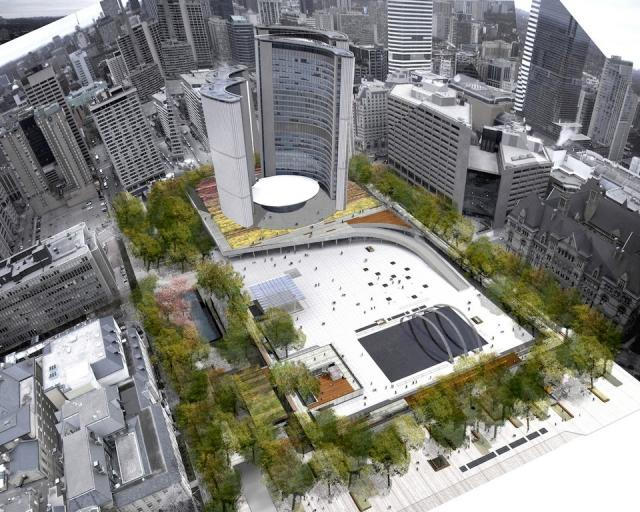 Nathan Phillips Square Revitalization, image courtesy of Plant Architect
