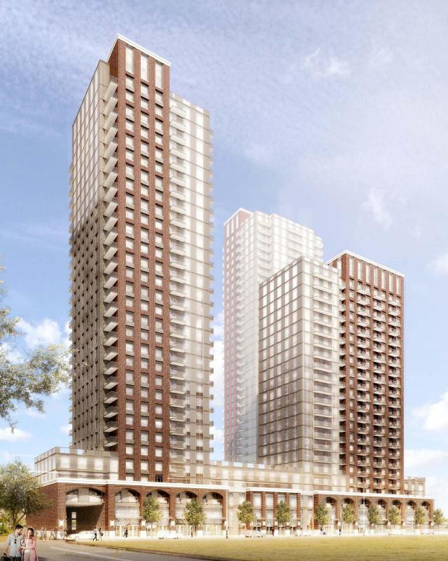 Facing southwest, 39 Newcastle, designed by Turner Fleischer Architects for Dunpar Homes