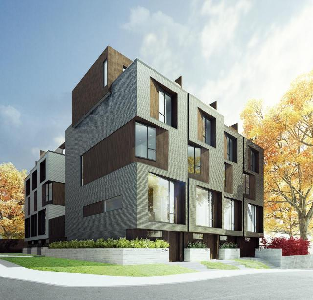 Core modern homes urban toronto for Contemporary townhouse plans