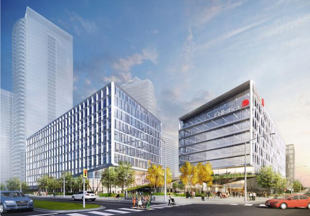 Rendering of the new Celestica office building, image retrieved via submission to the City of Toronto