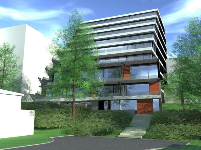 Wheeler Avenue frontage, 507-511 Kingston Road, designed by architectsAlliance for Vista Nova