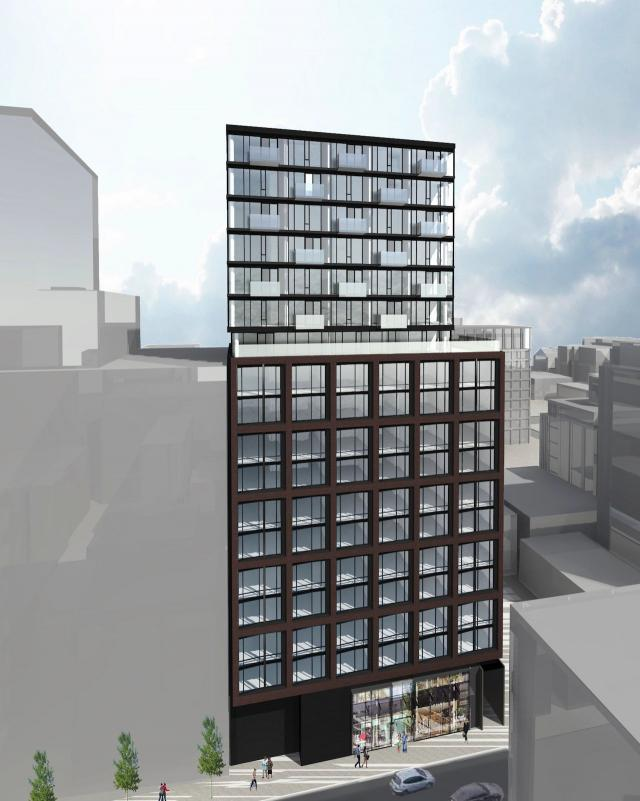 Rendering of 457 Richmond Street West, image retrieved via submission to the City of Toronto
