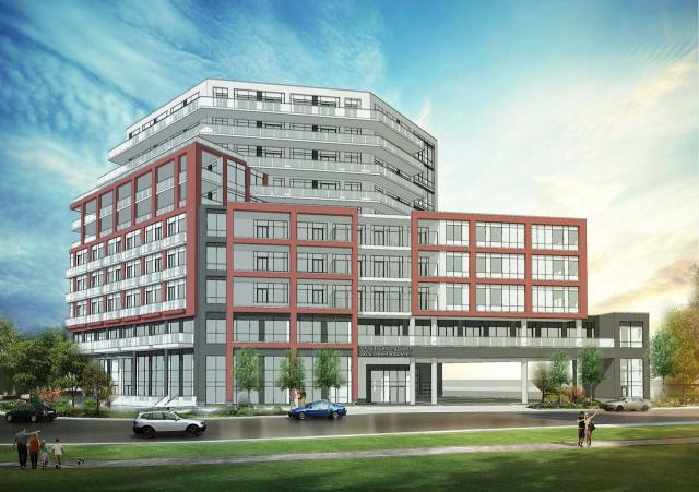 Looking northwest to 905 Don Mills Road, image by Kirkor Architects and Planners