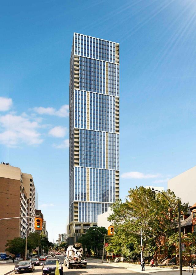 Looking north to 319-323 Jarvis Street, designed by IBI Group for CentreCourt Developments and Centrestone