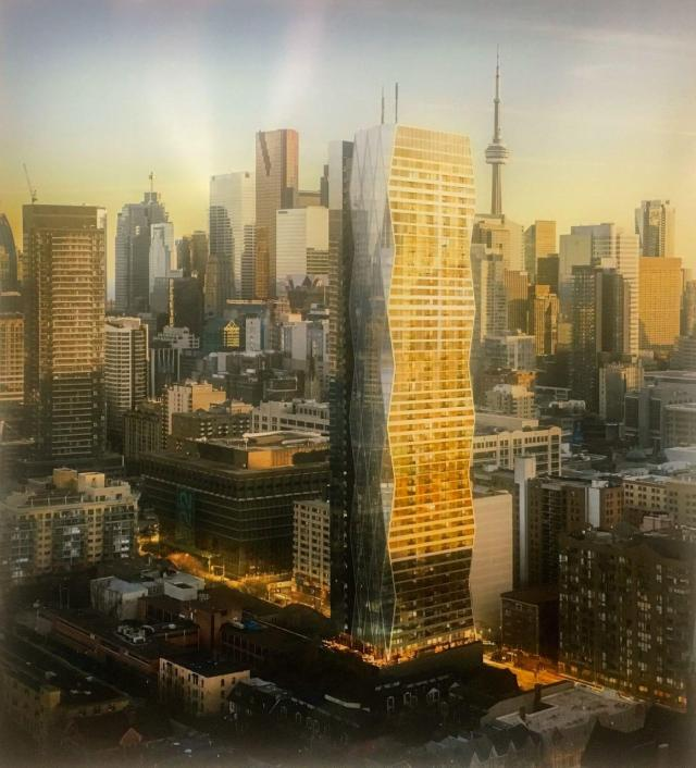 Looking southwest to 319-323 Jarvis Street, by Page + Steele / IBI Group for CentreCourt Development