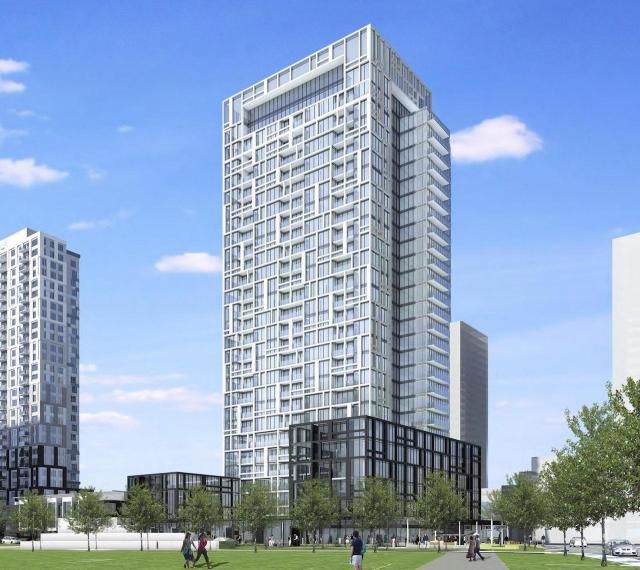 Looking northeast to Regent Park Block 30, image via submission to the City of Toronto