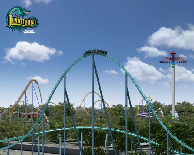 Leviathan with Behemoth and Windseeker at Canada's Wonderland, image courtesy of Cedar Fair Entertainment