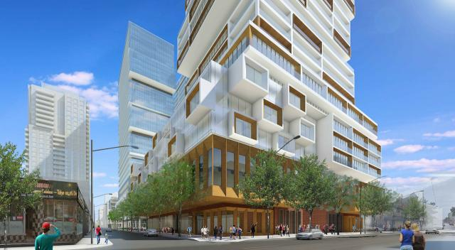 88 Queen Building D podium, image by the IBI Group for St Thomas Developments Inc.