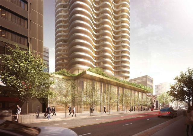 New rendering of 1421 Yonge at ground level, image via Terracap/Great Gulf
