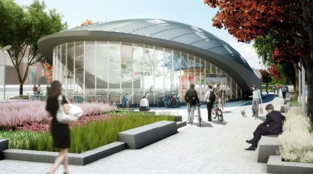 Vaughan Centre Station entrance, image courtesy of the TTC / Grimshaw Architects / Arup Canada