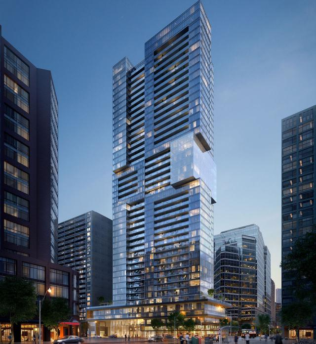 Looking southeast to The Livmore, designed by IBI Group for Vertca