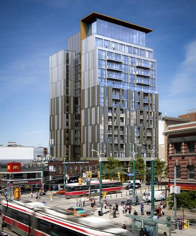 170 Spadina condos, designed by Wallman Architects for Tri-Win International