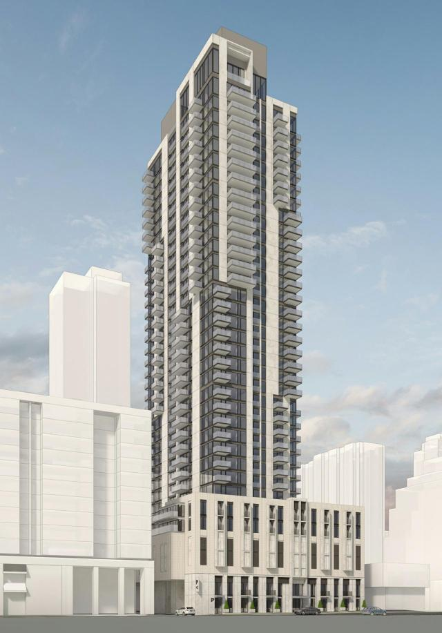 Rendering of 30 Merton Street, image via submission to City of Toronto