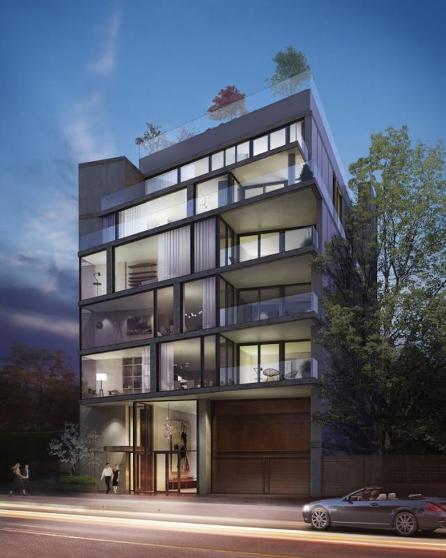 277 Davenport condominiums designed by Hariri Pontarini Architects for the Burnac Group