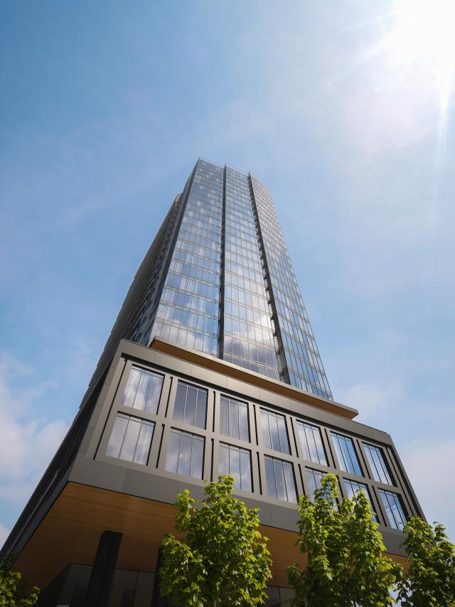 Worm's Eye View, ZEN King West, designed by IBI Group Architects for CentreCourt Developments