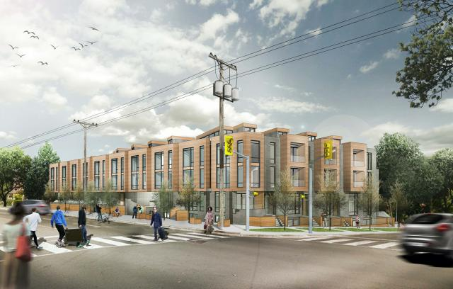 Rendering of 1665 Kingston Road looking Southeast, image courtesy of RAW Design