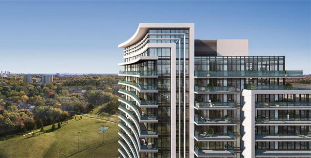 The stylized 7 in the building's crown, 7 on the Park, designed by Richmond Architects for iKore Developments