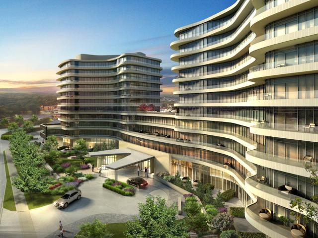 Flaire condominiums at the Shops at Don Mills, by Cadillac Fairview and Fram Building Group