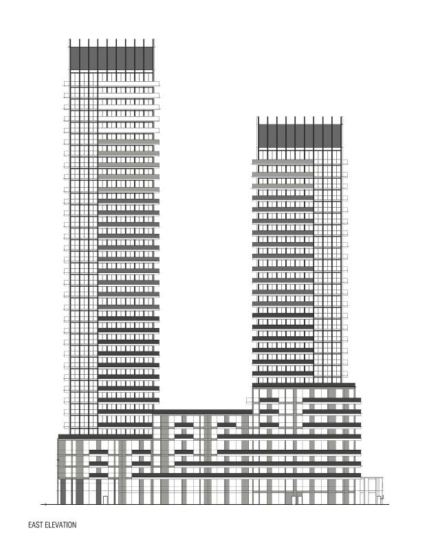 East elevation, 110 Broadway Avenue, Reserve Properties, Westdale, Graziani + Corazza, Toronto