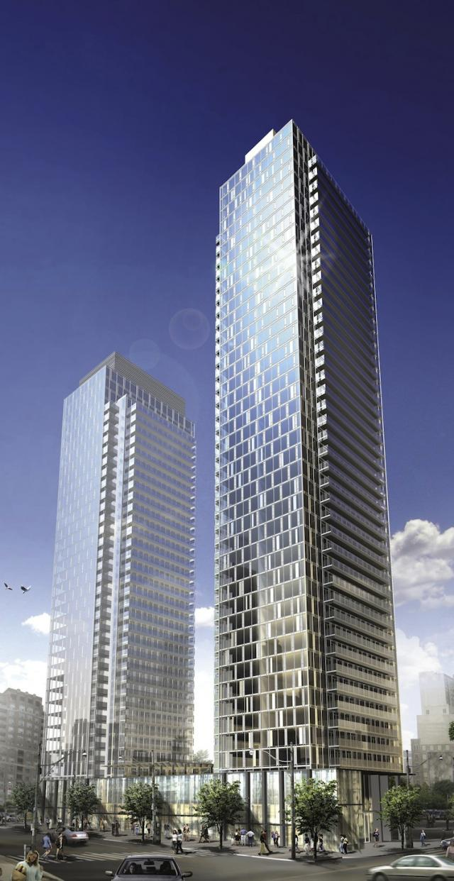 Murano Condominiums from the southwest, by Lanterra Developments
