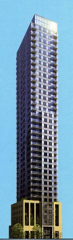 Project rendering for Crystalblu condos, courtesy of Bazis