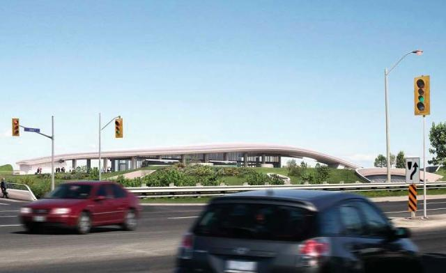 Highway 407 Station on the Toronto York Spadina Subway Extension (Courtesy of TTC / Aedas)