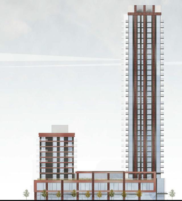 Dundas elevation, Regent Park: Block 17S, The Daniels Corporation, Quadrangle, Toronto