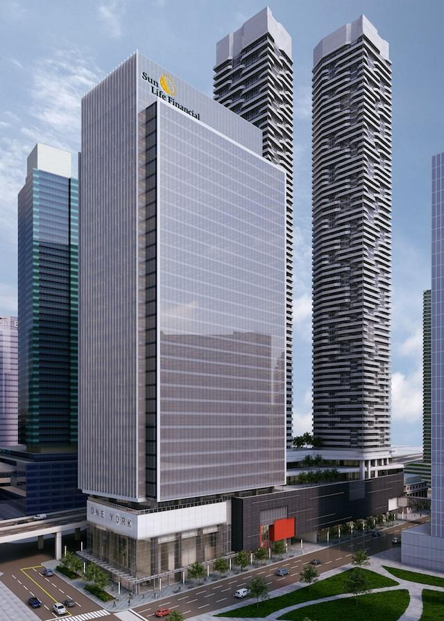Sun Life Financial Tower by &co Architects and Harbour Plaza Residences by architectsAlliance for Menkes Developments