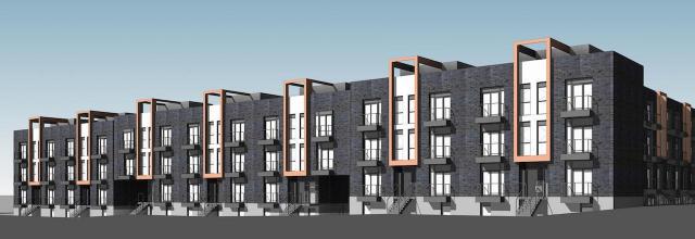 2787 Eglinton East, designed by Kohn Partnership Architects for Mattamy Homes