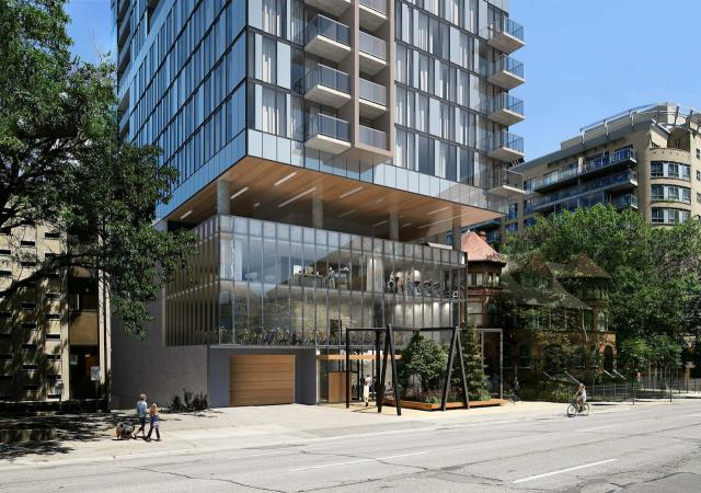 Looking east to 295 Jarvis Street, designed by Core Architects for Minto