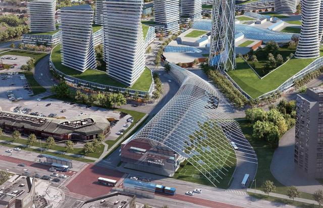Promenade Mall Revitalization, Vaughan, designed by WZMH for Liberty Development