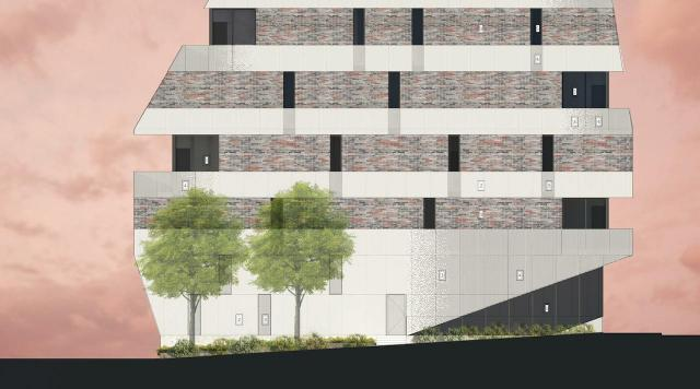 Concept for 861 St. Clair West, designed by +VG Architects for The Benvenuto Group