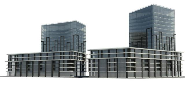 Looking northwest to 2746 Kingston, Toronto, designed by Graziani+Corazza for The Hi-Rise Group