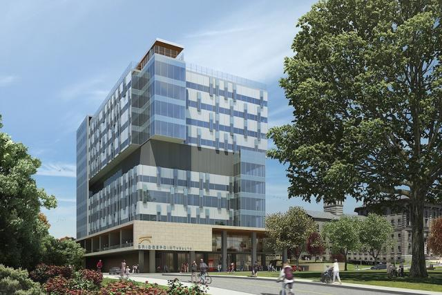 The new Bridgepoint Hospital, image courtesy of Diamond + Schmitt Architects, rendering by Cicada Design