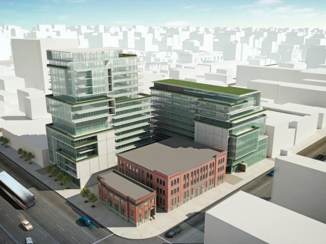 SIX50 King West seen from the southwest, image courtesy of Freed Developments