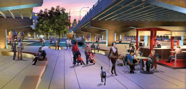 Underpass Park, Phase 1, by Phillips Farevaag Smallenberg and The Planning Partnership for Waterfront Toronto