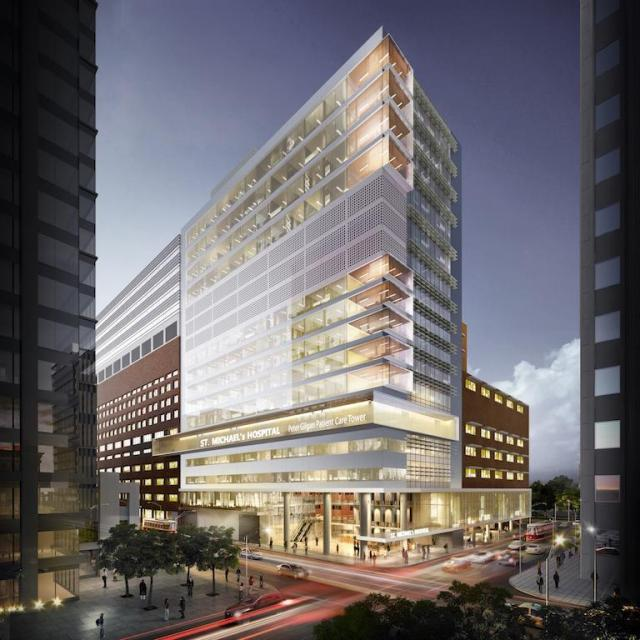 Peter Gilgan Patient Care Tower at St. Michael's Hospital, image by Diamond Schmitt Architects