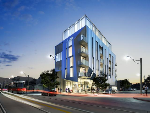 Updated Design of Origami Lofts by Teeple Architects for Symmetry Developments, July 2012