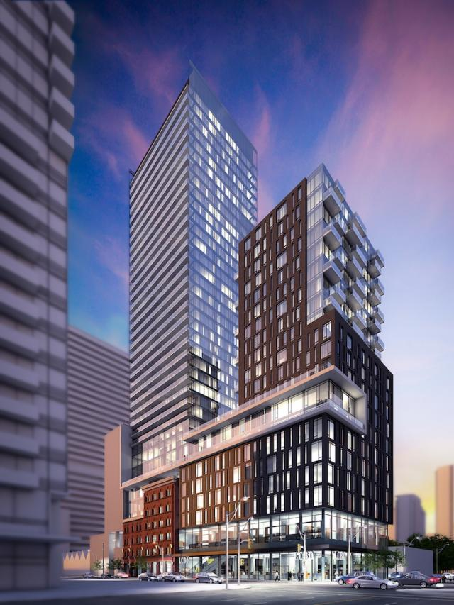 401-415 King St W condo Toronto by Terracap Management and Core Architects