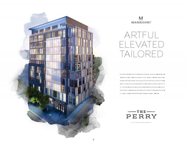 Renderning of Mansouri Living's The Perry Condo, Toronto.