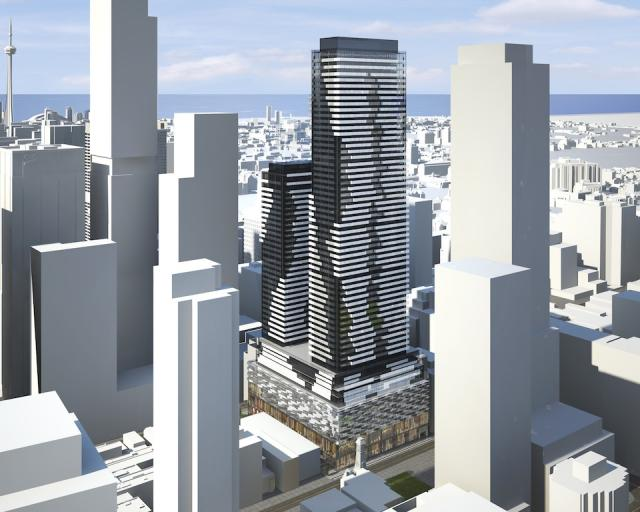 Refined concept for 37 Yorkville condos, image courtesy of the Minto Group