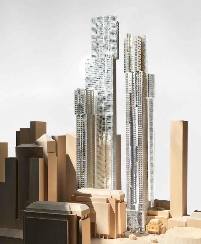 December 2018 version, Looking northwest to Mirvish+Gehry Toronto, image courtesy of Great Gulf