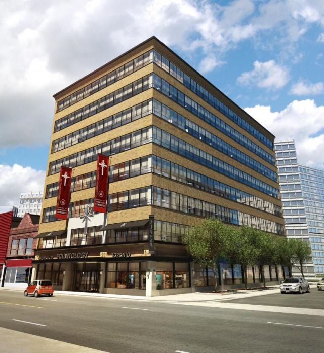 Restored exterior of 696 Yonge, image from the Scientology website